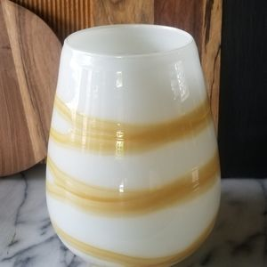 Threshold Target heavy glass vase white yellow